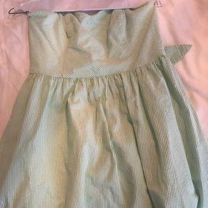 Lilly Pulitzer Green and White Seersucker Dress